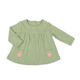 Chemise à manches longues The Peanutshell motif fleur de sauge interchangeable avec poche, layette pour bébé fille - 3-6 Mois