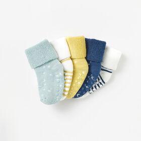 0-6m chaussettes mi-mollet de base - bleu