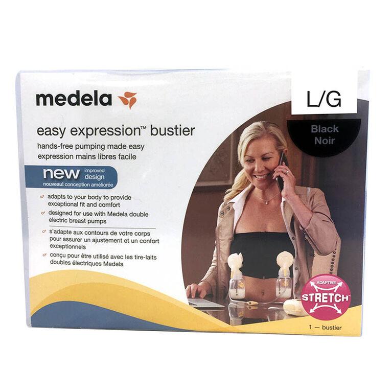 Medela Easy Expression Bustier - Black, Large