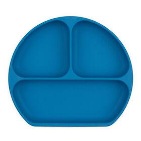 Bumkins Silicone Grip Dish, BPA Free - Deep Blue