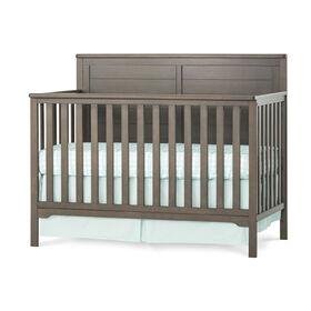 Forever Eclectic by Child Craft Wilmington Flat Top 4-in-1 Convertible Crib, Dapper Gray