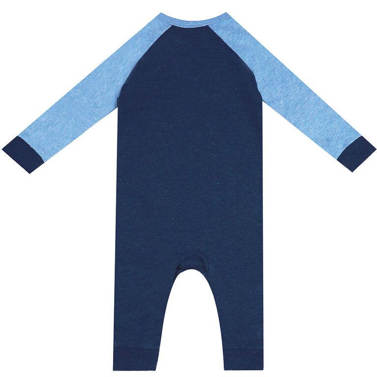 Earth by Art & Eden - Combinaison Nate avec poche en forme d'animal - Bleu, nouveau-né