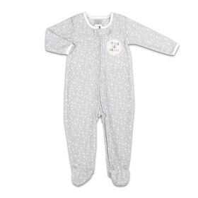 Dormeuse Koala Baby en micropolaire de couleur grise et imprimé étoilé - Strong Like Mommy, 0-3M