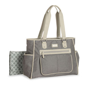 Carter's City Tote Diaper Bag Grey Textured