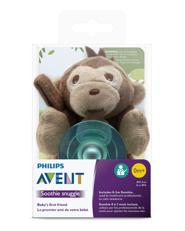 Philips Avent Soothie Snuggle - 0m+, Monkey