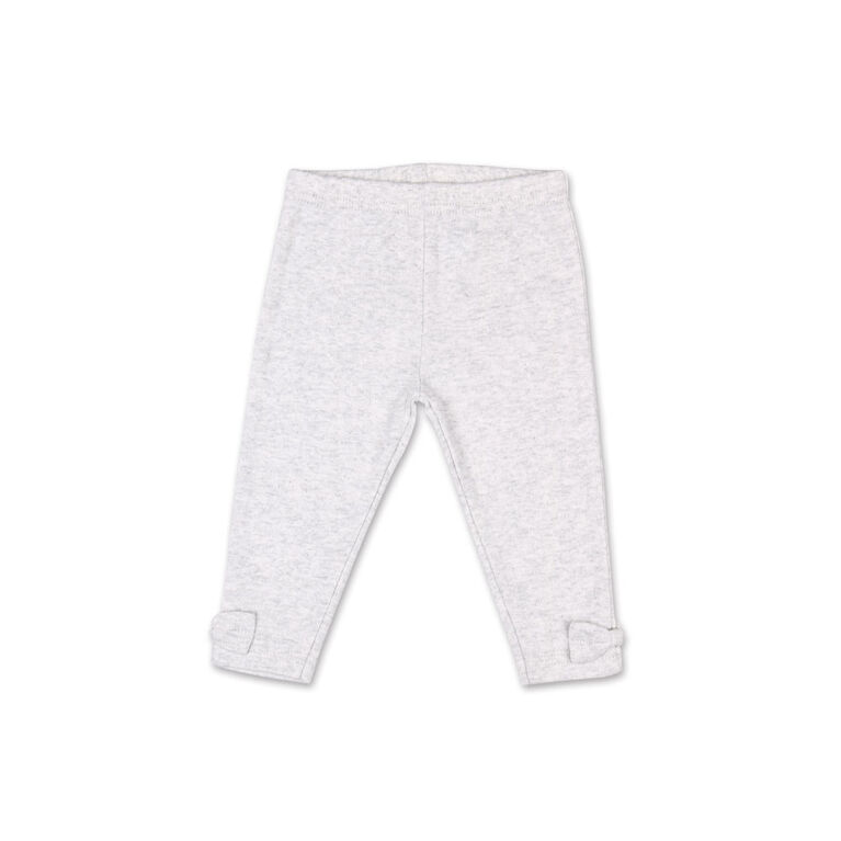 Koala Baby Heather Grey Legging with Bow Detail - 3-6 Months