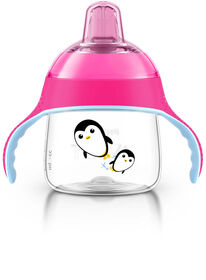 Philips AVENT - My Penguin Sippy Cup, 7oz, Pink
