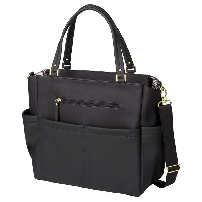Petunia Pickle Bottom - City Carryall in Black Matte Leatherette - Baby, Infant Toddler