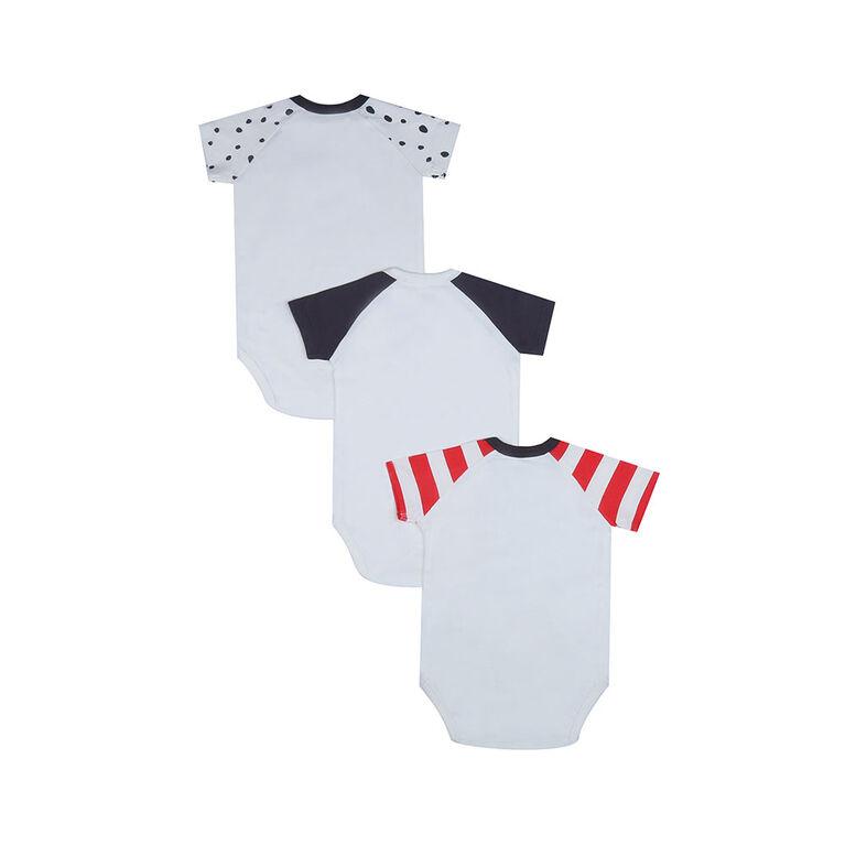 earth by art & eden - Bailey Bodysuit - 3-Pack L/S Bodysuit - Whisper - White Multi, 3 Months
