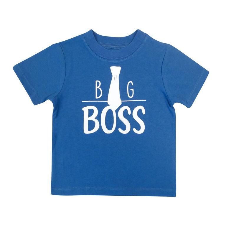 Rococo short sleeve Tshirt - Blue, 3T
