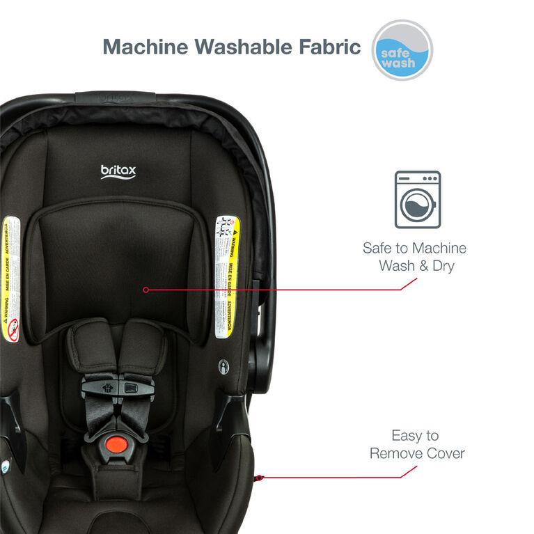 Britax B-Lively & B-Safe Gen2 Travel System, Eclipse Black SafeWash