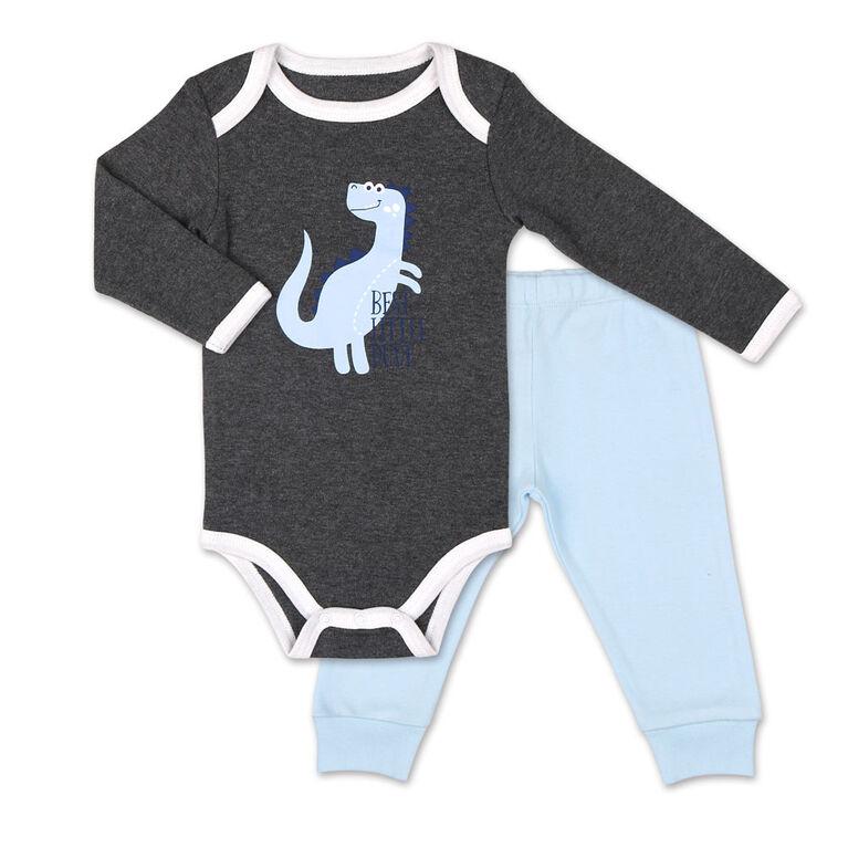Koala Baby Dinomite Boy Long Sleeve Bodysuit and Pants Set - 12 Months