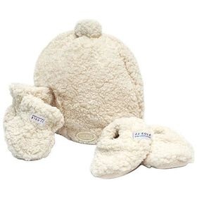 JJ Cole Original Bundle Me Hat, Mitten & Bootie Set 0-6 Mos