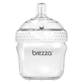 Baby Brezza Polypropylene Bottle 5 oz. - White