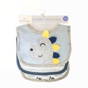 Koala Baby - 3 Pack Blue Dinosaur 3D Jersey
