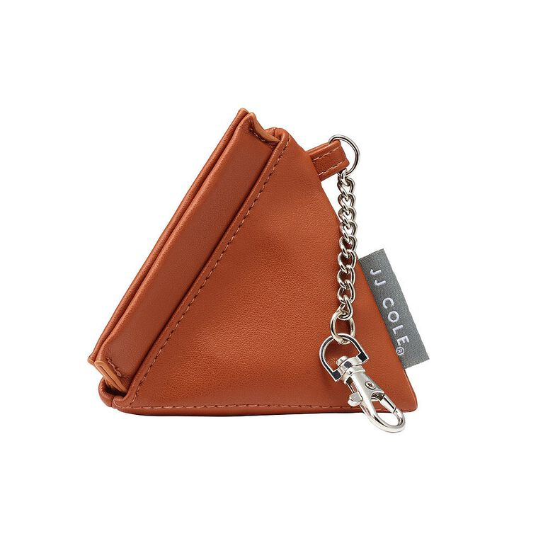 JJ Cole Vegan Leather Pacifier Pyramid - Cognac