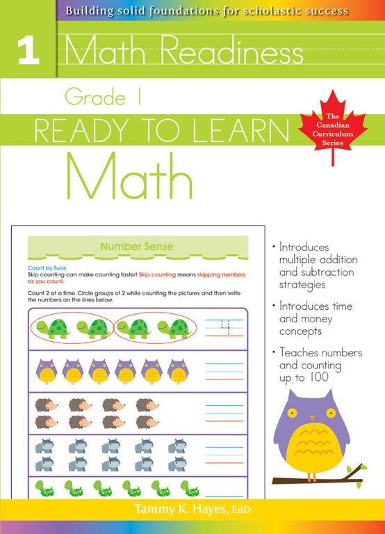 Grade 1 - Ready To Learn Math - Édition anglaise