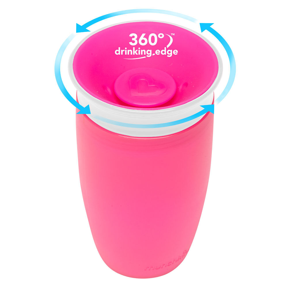 Pink Months by Munchkin 12 Munchkin Miracle 360 Degree 10 oz Sippy Cup