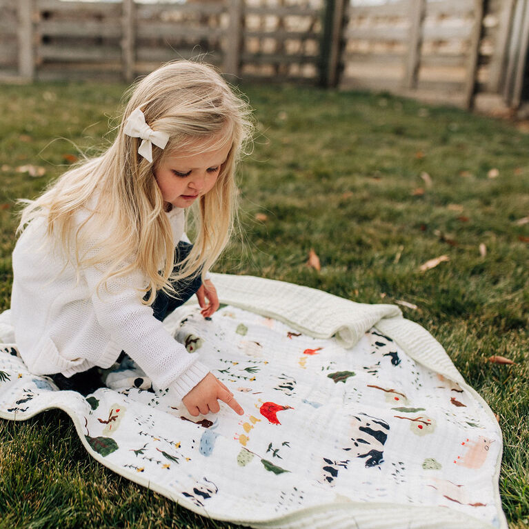 Red Rover - Cotton Muslin Quilt - Family Farm - R Exclusive