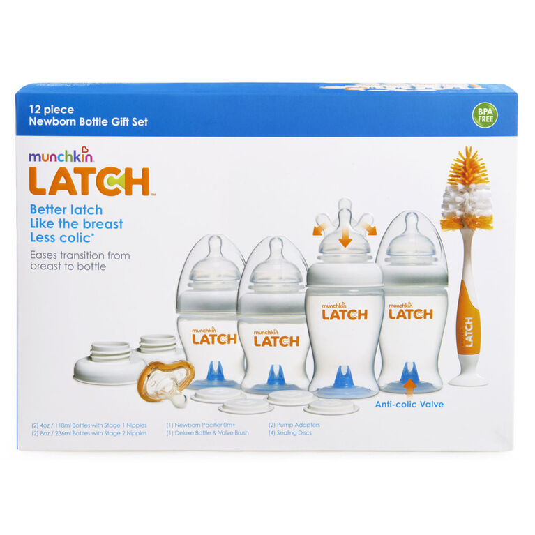 Munchkin - LATCH Newborn Bottle Starter Set - 12-Piece