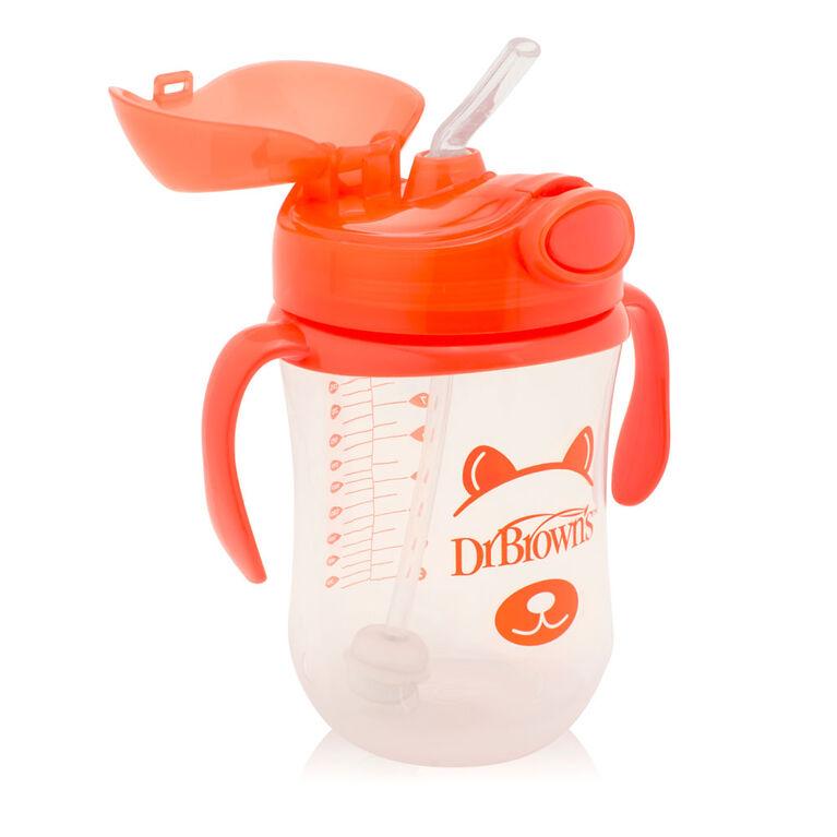Première tasse avec paille, 9oz - Orange.
