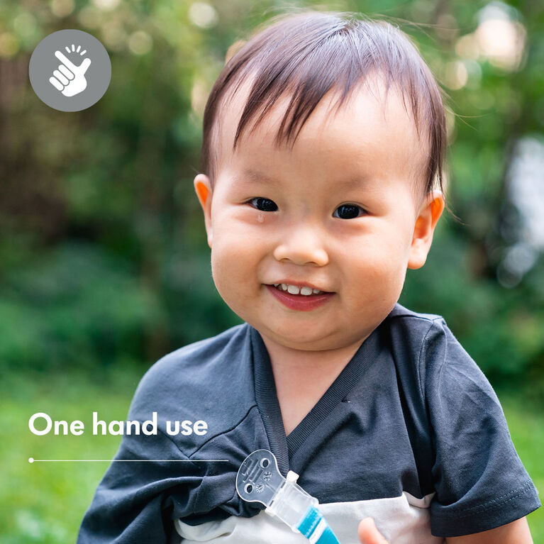 Attache-sucette Medela Baby, très léger et petit, sans BPA. Garçon