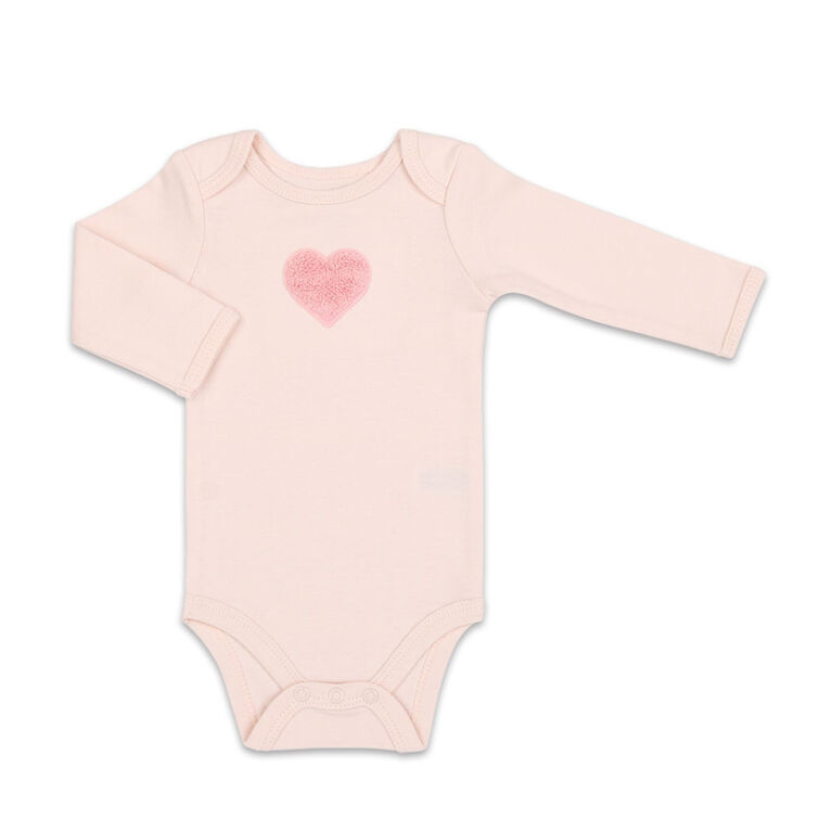 Koala Baby 4Pk Long Sleeve Bodysuit Made With Love, 0-3 Months