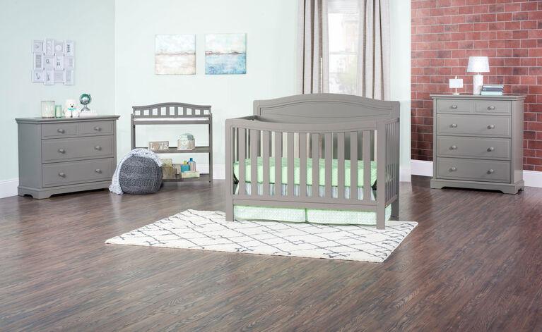 Lit de bébé Convertible 4-en-1 Dresden de Child Craft - gris cool.