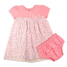 Rococo 2-Piece Dress with Panty Set - Pink, 9-12 Months