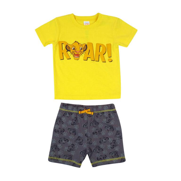 Disney Lion King  2-Piece Short Set - Yellow, 24 Months