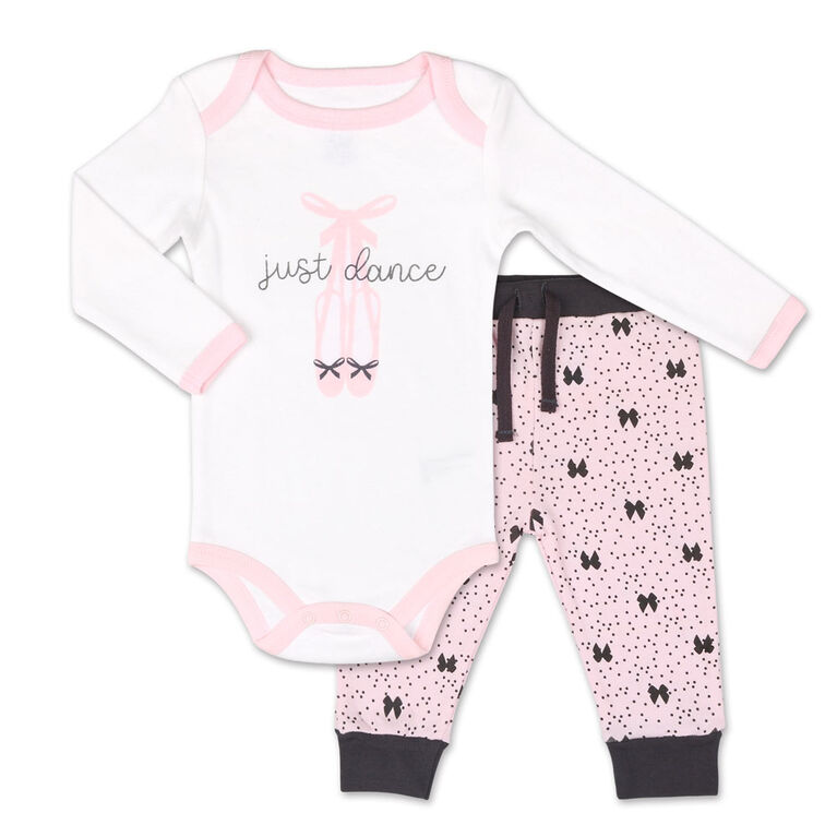 Koala Baby Tiny Dancer Long Sleeve Bodysuit and Pants Set - 12 Months