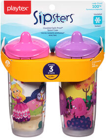 Playtex - Insulator Spout Cup 9 oz, 2-Pack - Pink, Styles May Vary