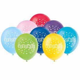"""8 Balloons 12 Po - """"Congratulations"""" - Édition anglaise"""