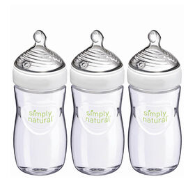 NUK Simply Natural Baby Bottles, 9 oz, 3 Pack, 1+ Months