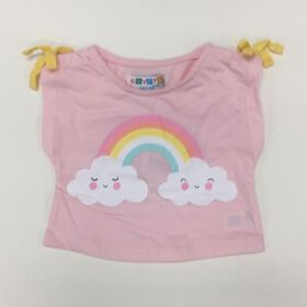Coyote and Co. Pink tee with Rainbow print - size 0-3 months