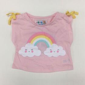 Coyote and Co. T-shirt à imprimé d'arc-en-ciel - Rose - de 9 à 12 mois.