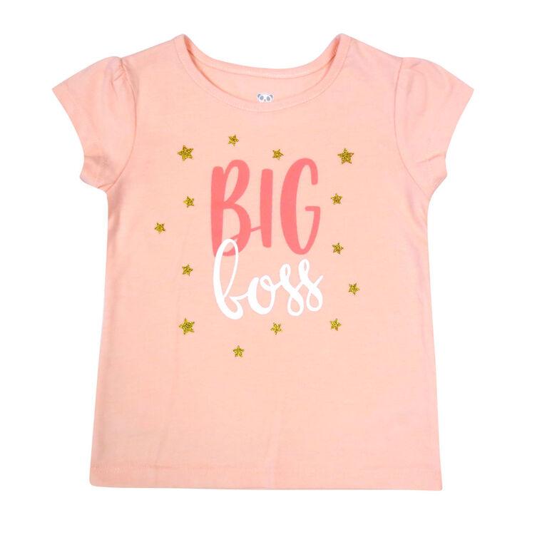 Rococo short sleeve Tshirt - Pink, 4T