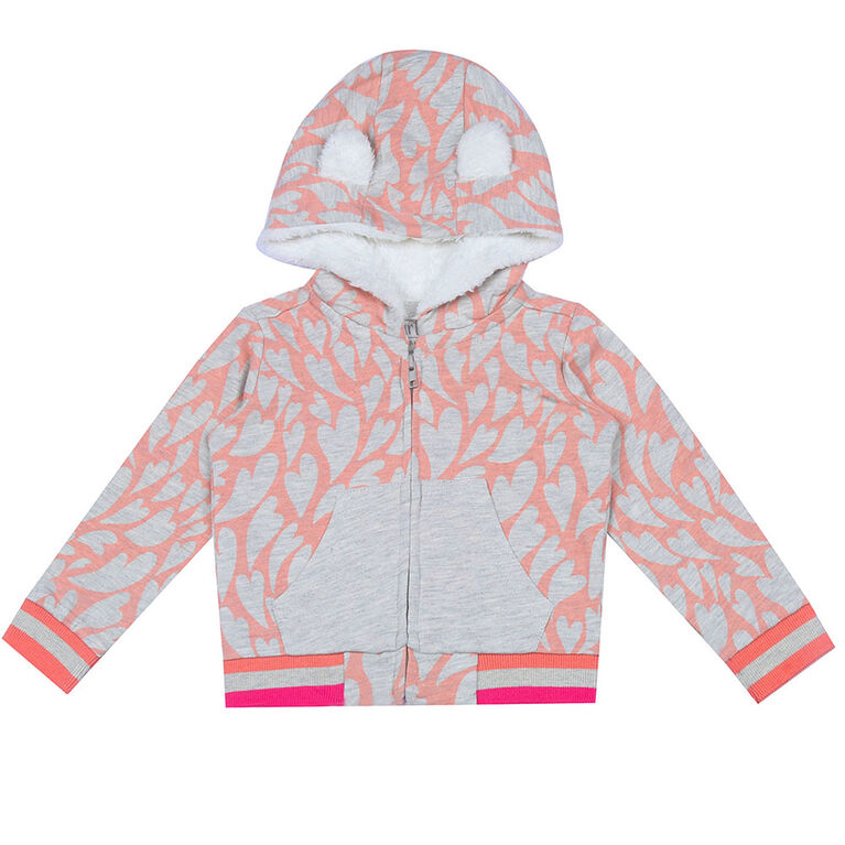 earth by art & eden - Shannon Hoodie - Outerwear - Cream Heather Multi, 18-24 Months