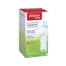 Playtex - Sacs Drop-Ins expansibles 8oz - boîte de 100.