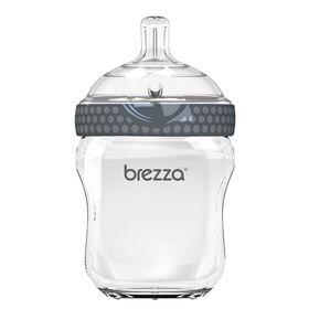 Biberon en verre gris, 8 oz de Baby Brezza.