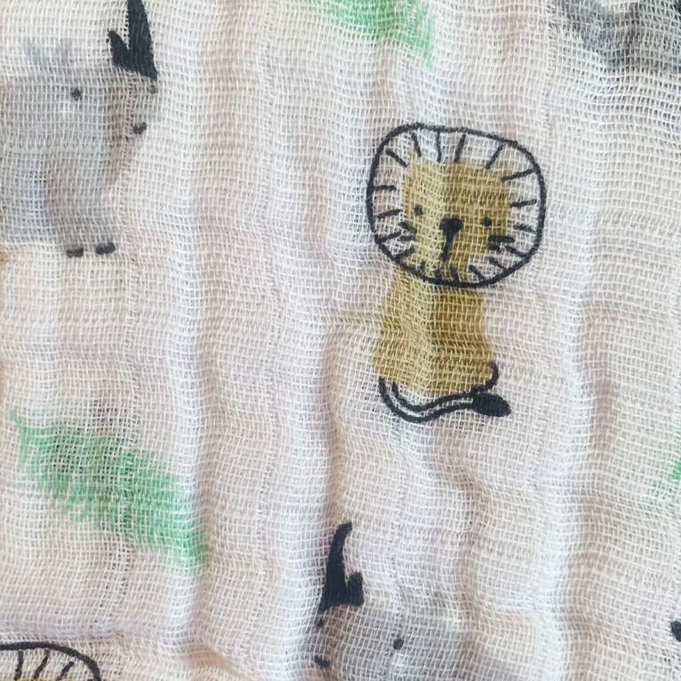 Koala Baby - 3 Pk Muslin Burpcloths - Grey Safari