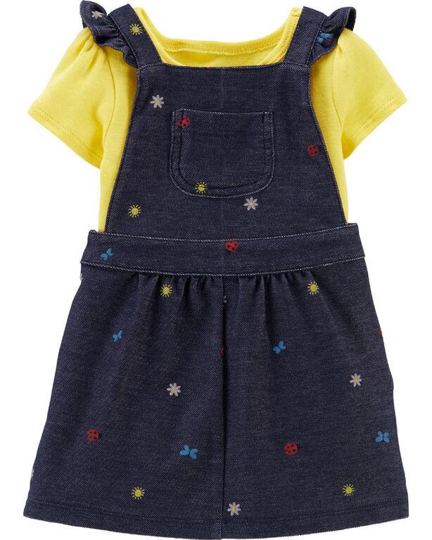 Carter's 2-Piece Bodysuit & Skirtall Set - Navy/Yellow, 9 Months