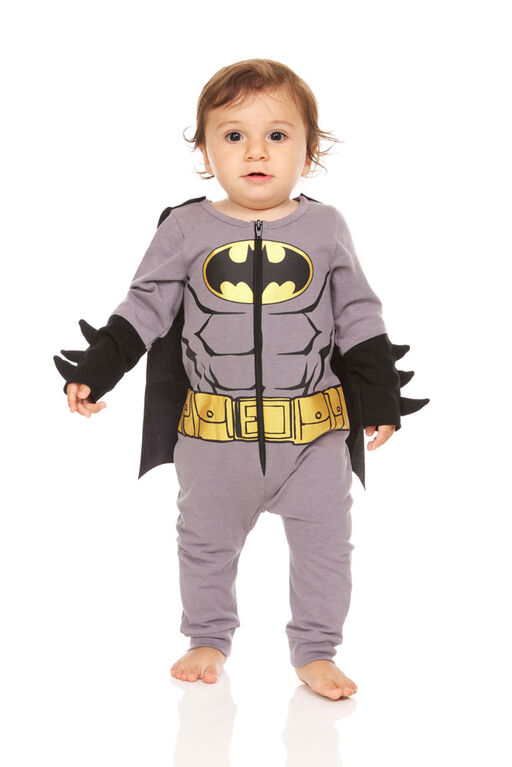 Batman Newborn Romper 6M Grey