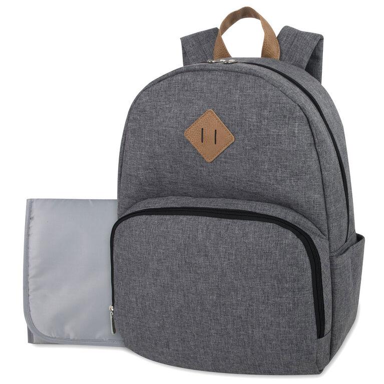 Baby Essentials Grey Heather Diaper Backpack