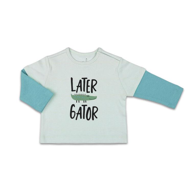 Combinaison contrastéeThe Peanutshell Later Gator interchangeable, layette pour bébé garçon - 3 Mois