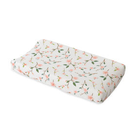 Red Rover - Cotton Muslin Changing Pad Cover - Peach Blossom - R Exclusive