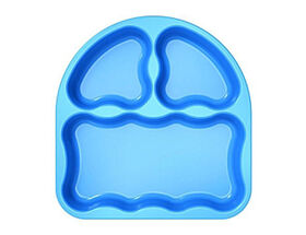 Gerber Graduates Tri Suction Plates, 2 Pack - Blue/Orange
