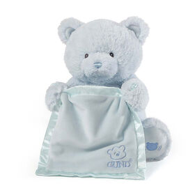 Baby GUND, Ours en peluche animé cache-cache, My 1st Teddy, bleu, 29,2cm - Édition anglaise