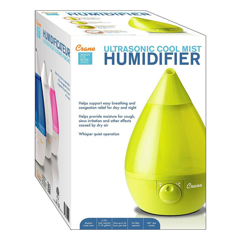 Crane - Humidificateur ultrasonique à brume fraîche - Goutte verte.