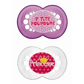 MAM Sayings Silicone Pacifier French Edition 6+ Princesse